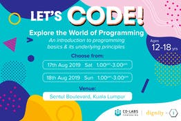 Let's Code! Explore the World of Programming  at the Sentul Festival 2019
