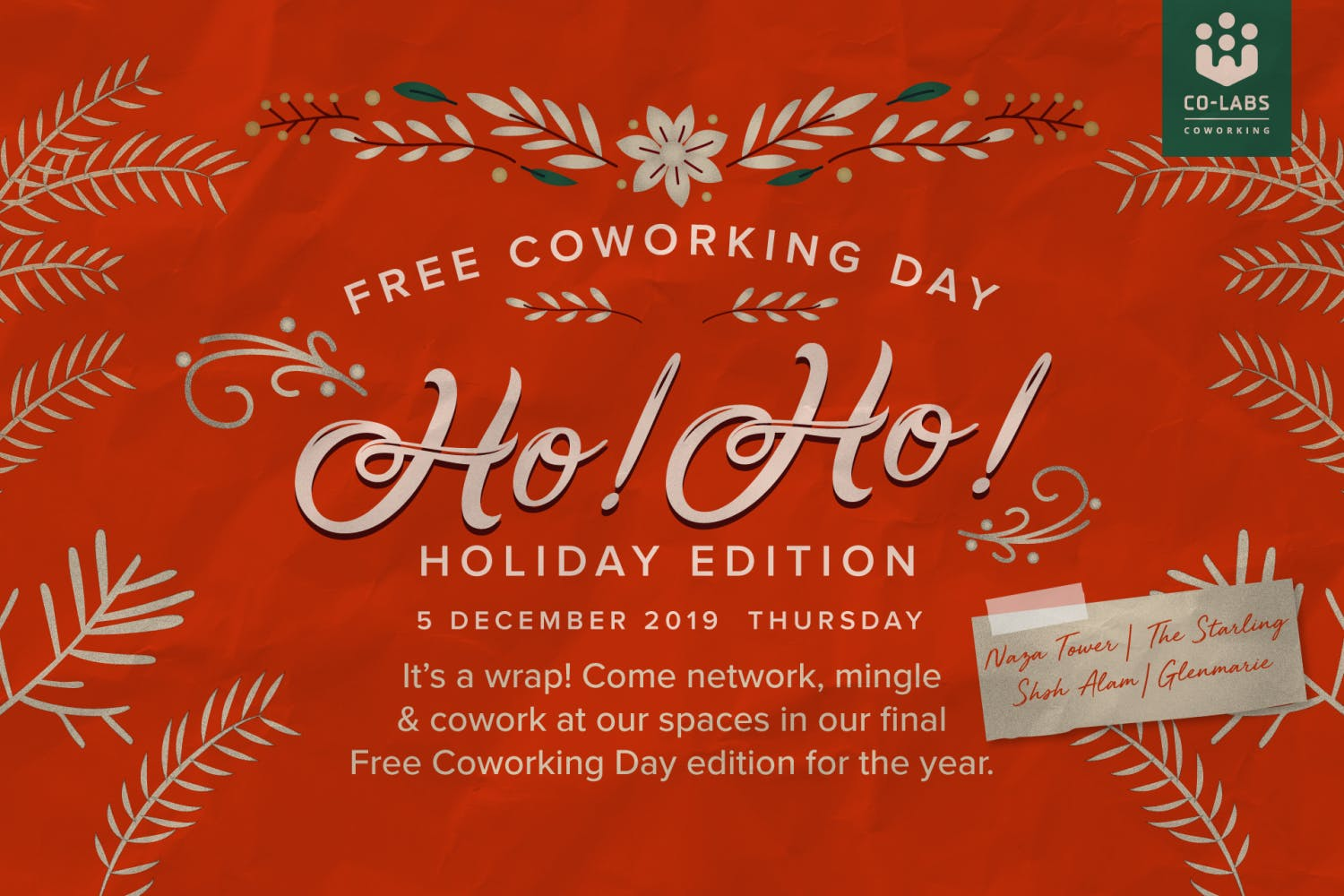 Free Coworking Day: Ho! Ho! Holiday Edition