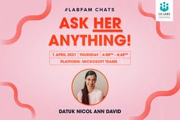 #LabFam Chats: Ask Her Anything with Datuk Nicol David