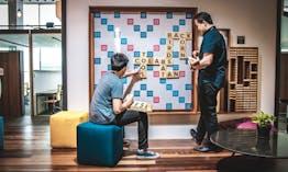 Co-labs Coworking The Starling Plus Breakout Area Scrabble Board
